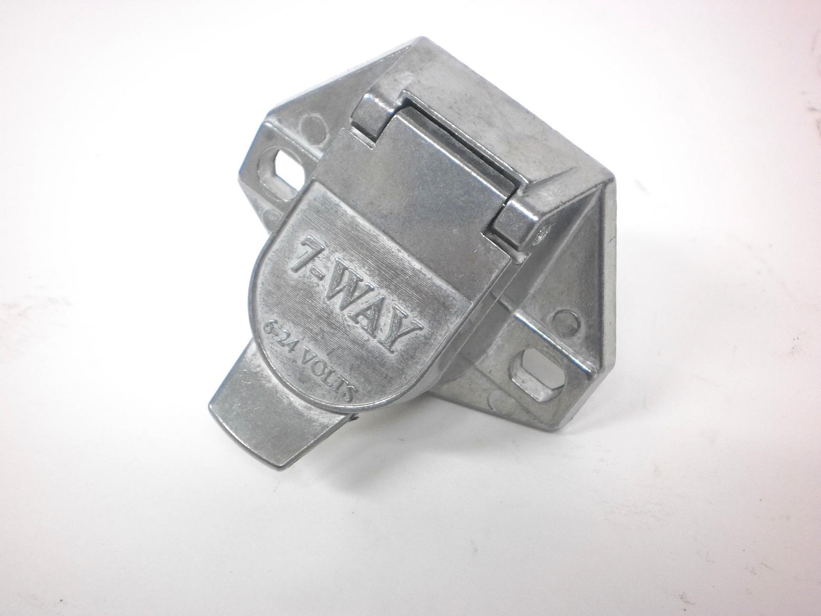 truck end plug 7 way pin rv connector light plug for cord. Black Bedroom Furniture Sets. Home Design Ideas