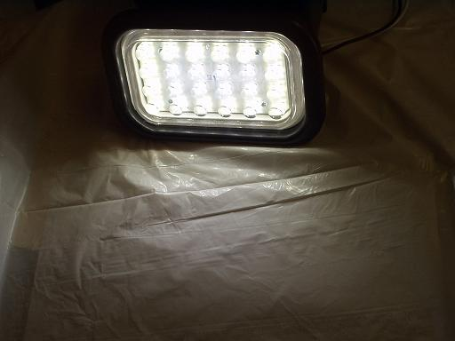White Clear 24 Led Light Back Up Rv Trailer Truck 3x5