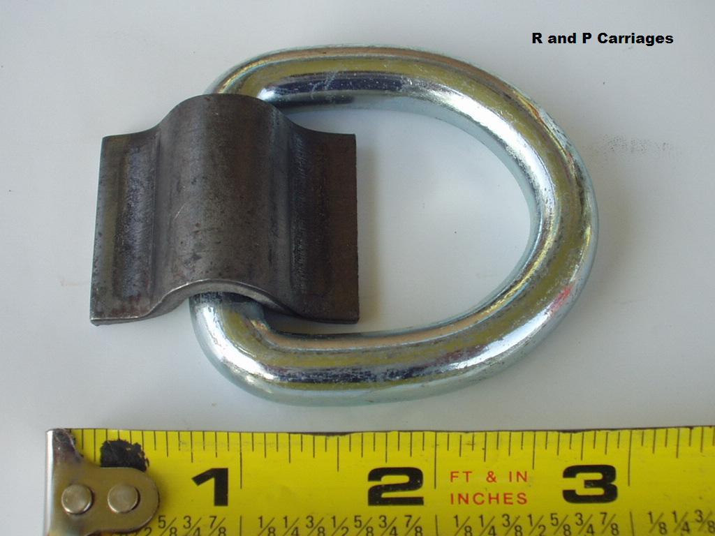 "14-3//8/"" D Ring 5000# Weld On ATV Motorcycle Rope Tie Trailer Truck WR15"