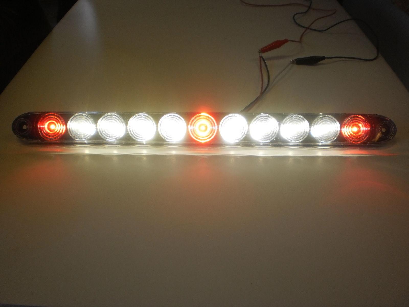 2 tecniq red 3 id bar w white reverse light 11 led 15 camper rh ebay com Lighting Techniques TecNiq Eon