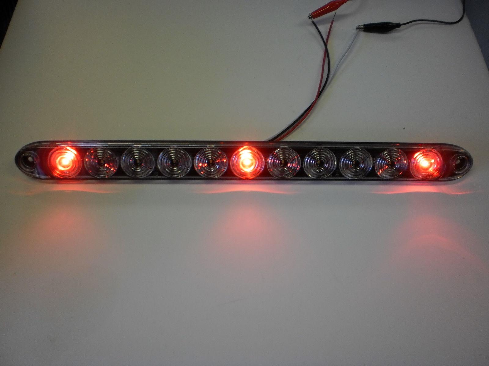 2 tecniq red 3 id bar w white reverse light 11 led 15 camper rh ebay com TecNiq S170 TecNiq S170