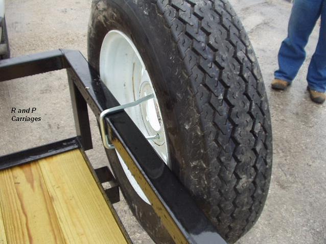 Trailer spare tire mount U bolt style WITH LOCK fits 4 or ...