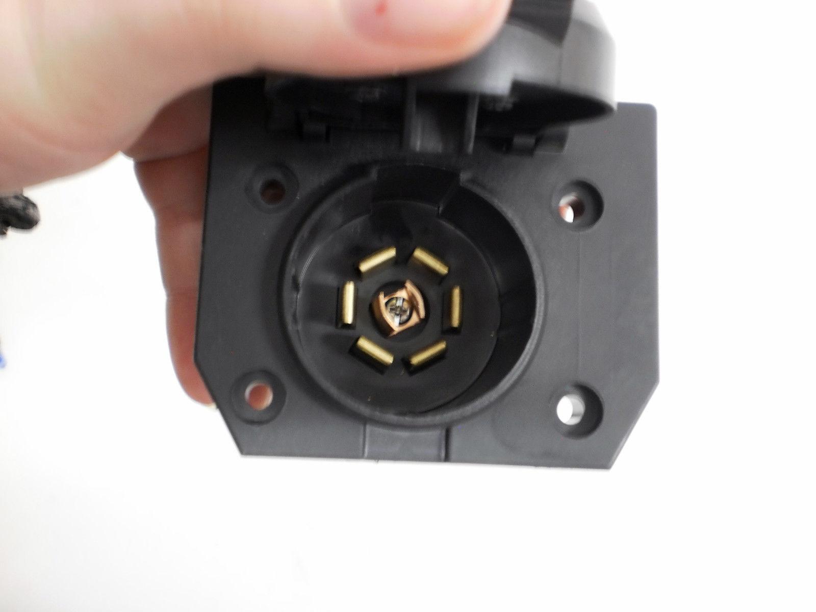 6 way round trailer wiring diagram 7    way       round    pin truck to 7 blade    trailer    plug adapter ebay  7    way       round    pin truck to 7 blade    trailer    plug adapter ebay